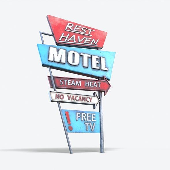 Motorway Motel Sign PBR