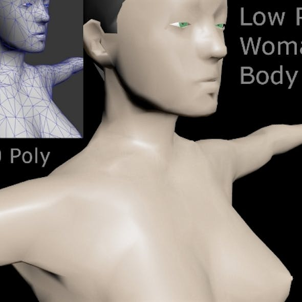 Low Poly Woman Body