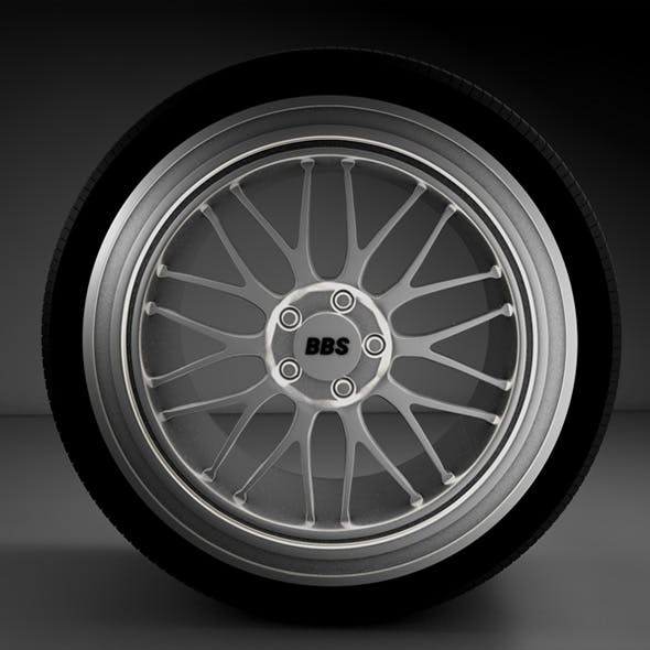 Wheel BBS with tire