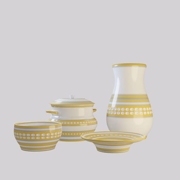 Tableware set yellow