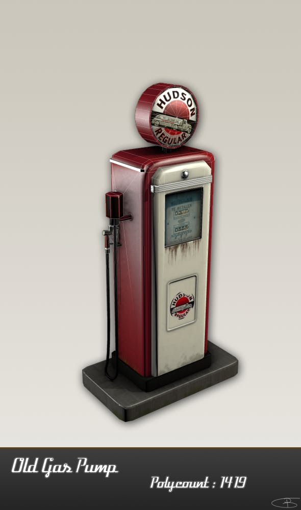 Old Gas Pump - 3DOcean Item for Sale