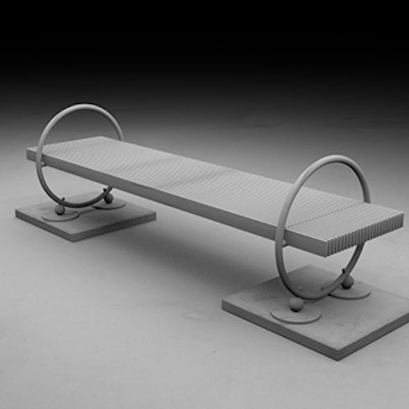 Design project, bench, bench stends sidewalk