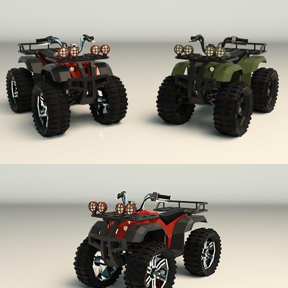 Low Poly ATV 01