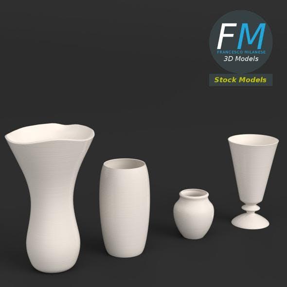 4 vases set