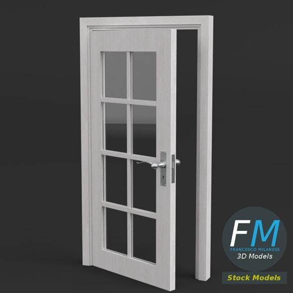 8 panel glass door