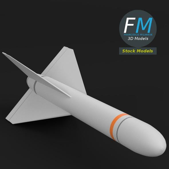 AGM-62 Walleye Missile - 3DOcean Item for Sale