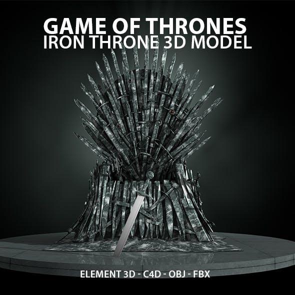 GoT Iron Throne 3D Model for Element 3D & Cinema 4D