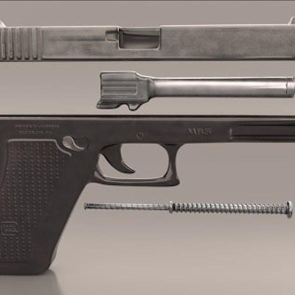 Gun Glock Low Polygon