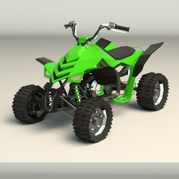 Low Poly ATV 02