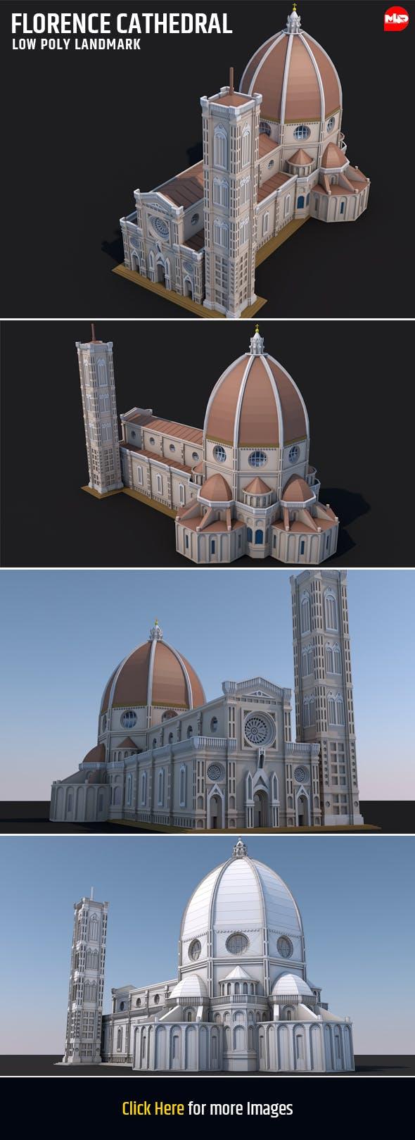 Florence Cathedral Landmark - 3DOcean Item for Sale