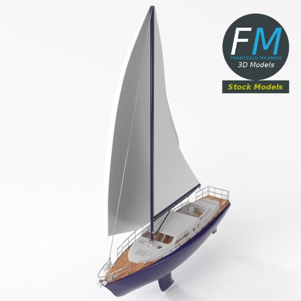 Regatta sailboat - 3DOcean Item for Sale