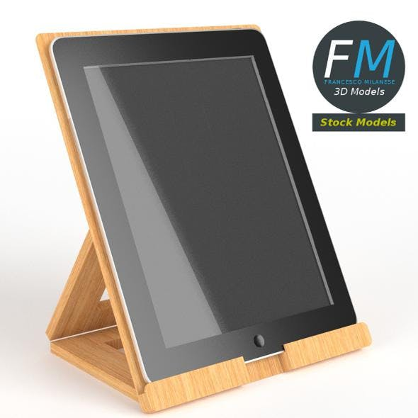 Tablet on desktop stand