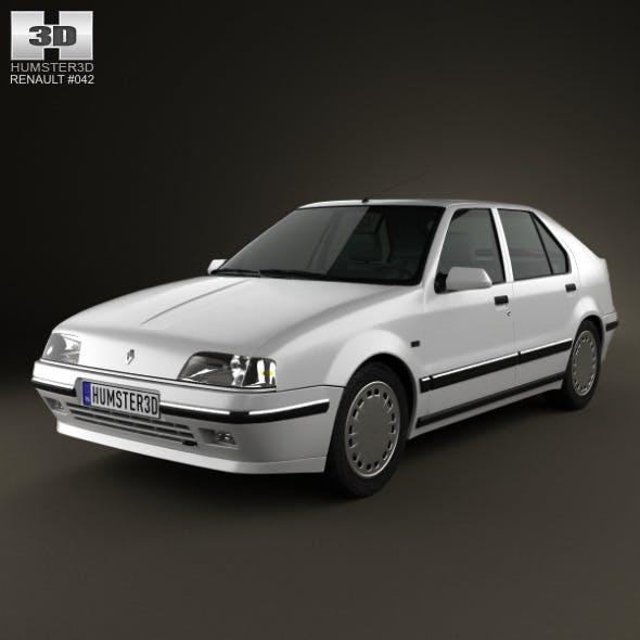 Renault 19 5-door hatchback 1988 - 3DOcean Item for Sale