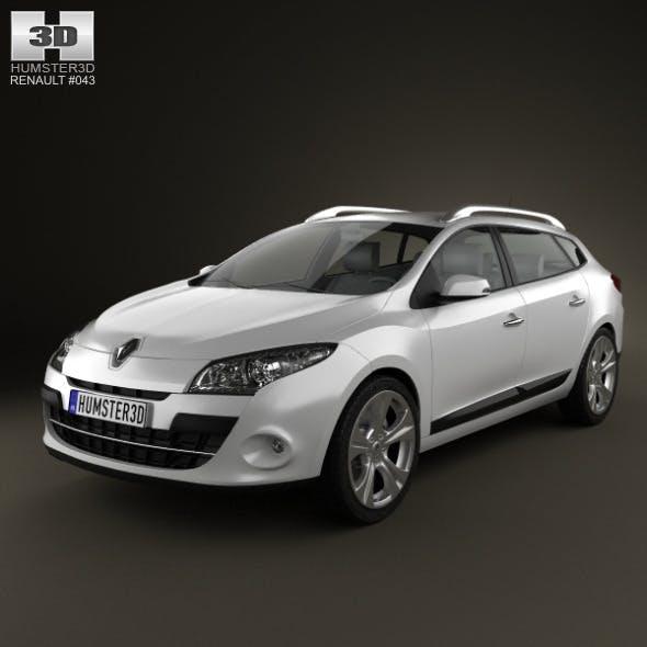 Renault Megane Estate 2011 - 3DOcean Item for Sale