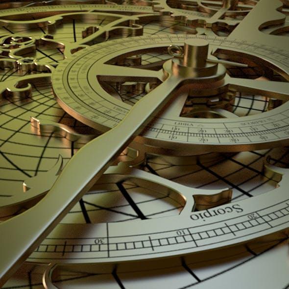 Astrolabe Hyperrealistic