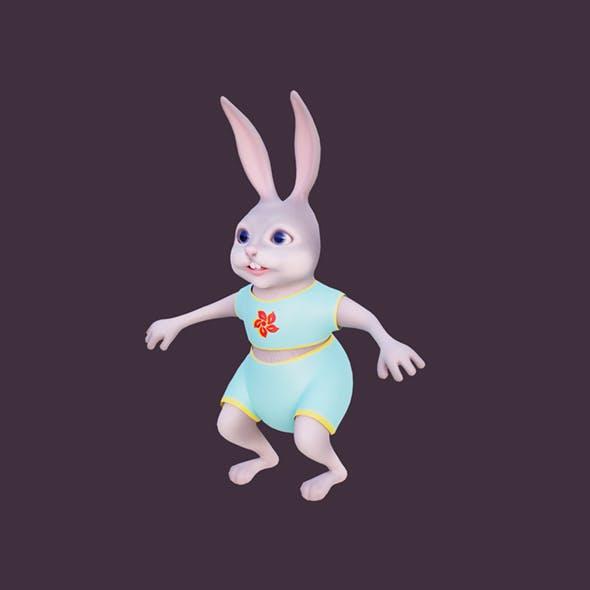 Cartoon bunny Timosha