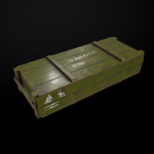 Wood Army Box