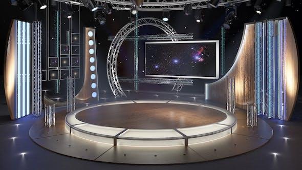 Virtual TV Studio Chat Set 23 - 3DOcean Item for Sale