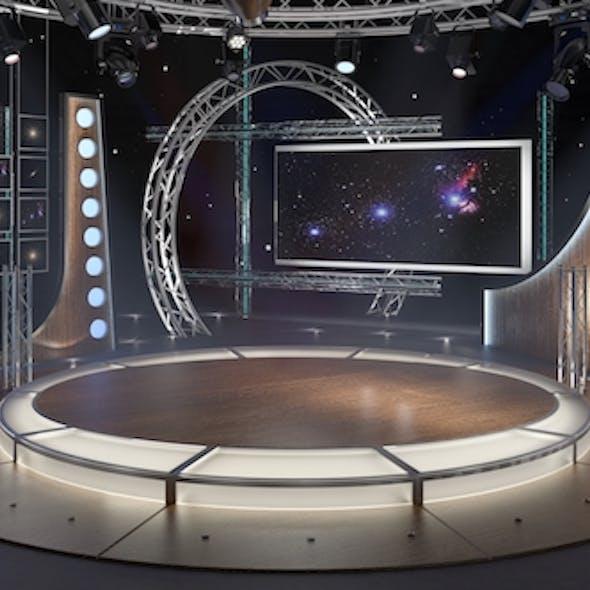 Virtual TV Studio Chat Set 23