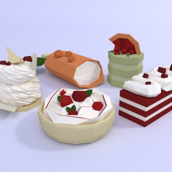 Low poly cakes