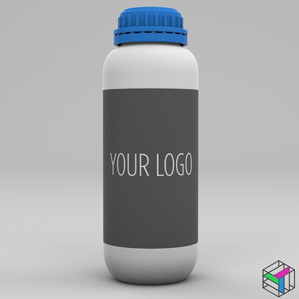 1 liter plastic bottle 3D model - 3DOcean Item for Sale
