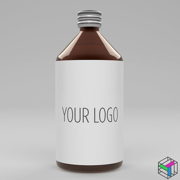 500ml glass jar 3D model - 3DOcean Item for Sale