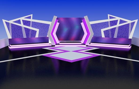 Studio set design / Virtual set design - 3DOcean Item for Sale