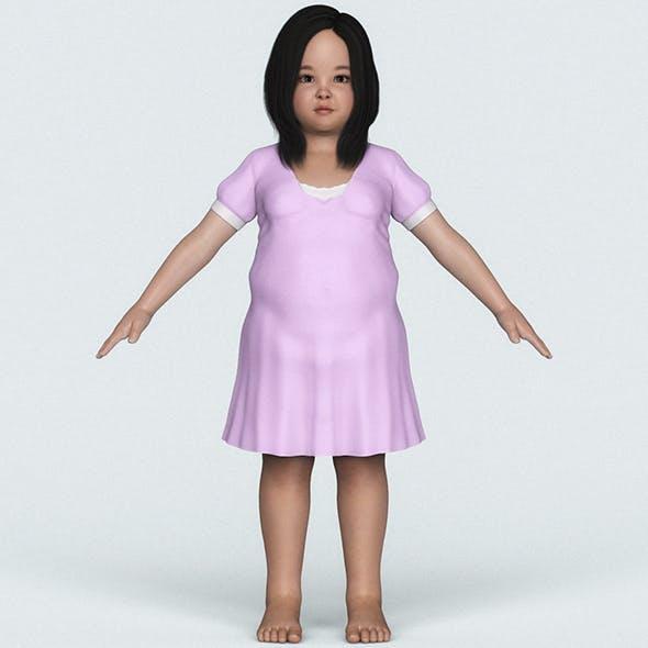 Realistic Fat Child Girl