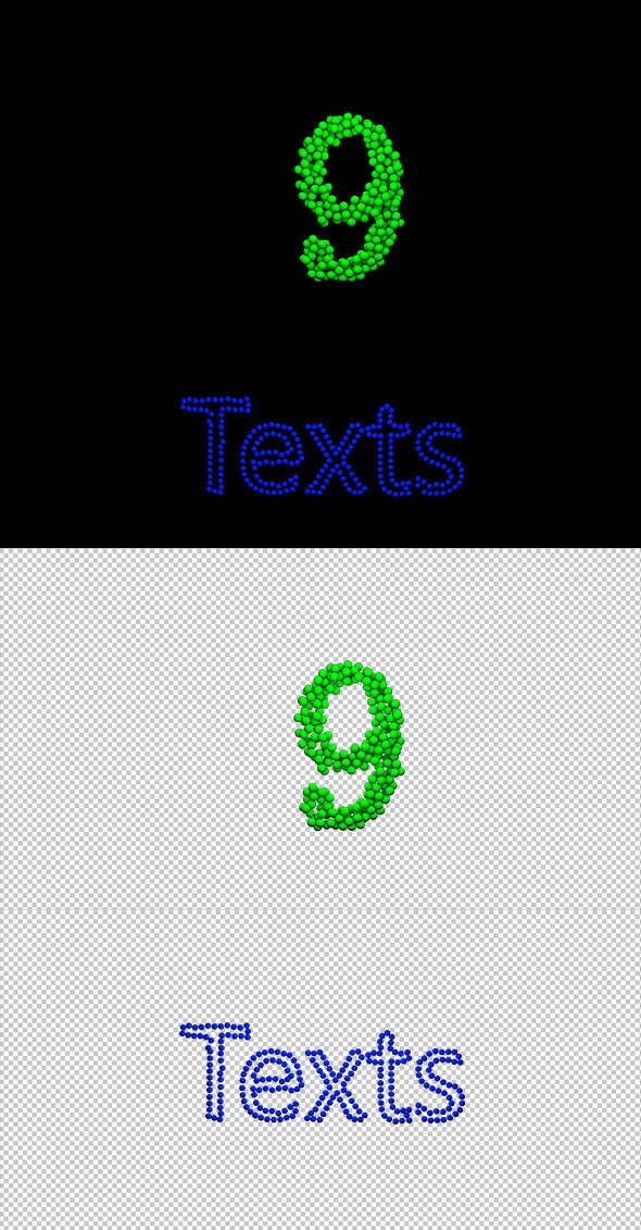 Countdown and text with moving balls gonna be built - 3DOcean Item for Sale