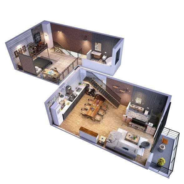 Loft apartment Floorplan