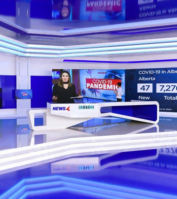 News Studio Tv - 3DOcean Item for Sale