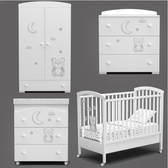 Erbesi Stella Magic Baby furniture - 3DOcean Item for Sale