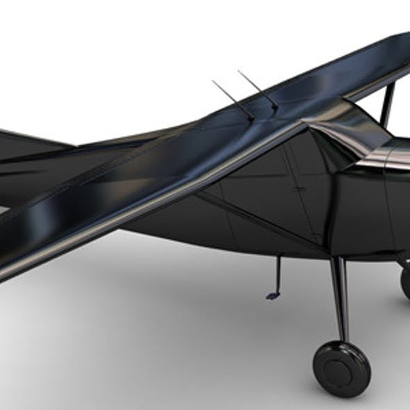 Air Craft 3D Model Cessna 17