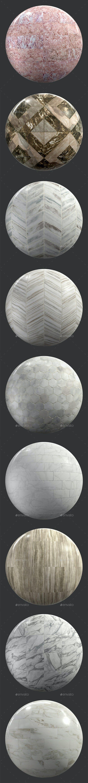 Stone Tiles 4K Texture set 9 items - 3DOcean Item for Sale