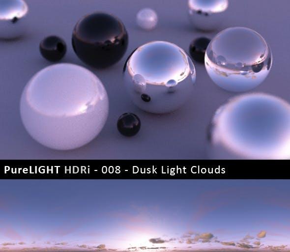 PureLIGHT HDRi 008 - Dusk Light Clouds - 3DOcean Item for Sale
