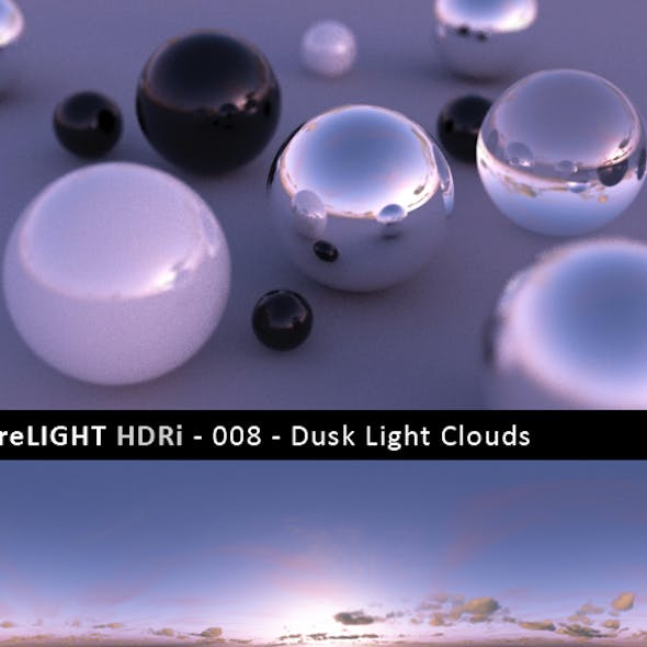 PureLIGHT HDRi 008 - Dusk Light Clouds