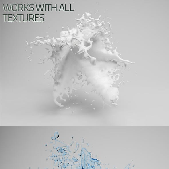 High Detailed Fluid Splash