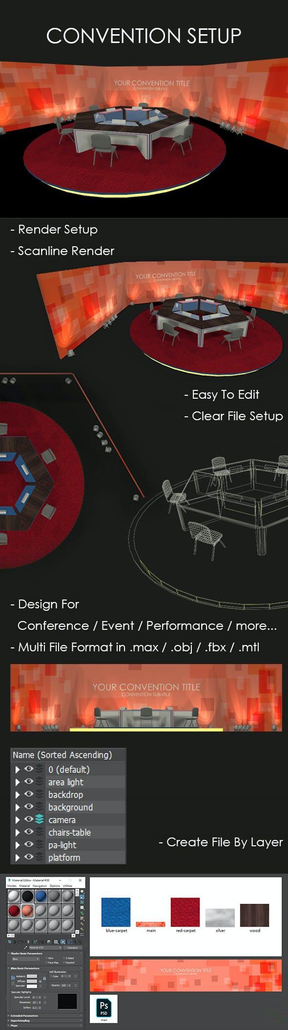 Convention Setup - 3DOcean Item for Sale