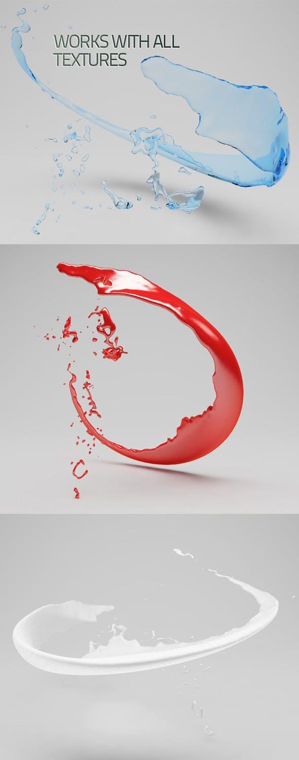 Highly Detailed Fluid Splash - 3DOcean Item for Sale
