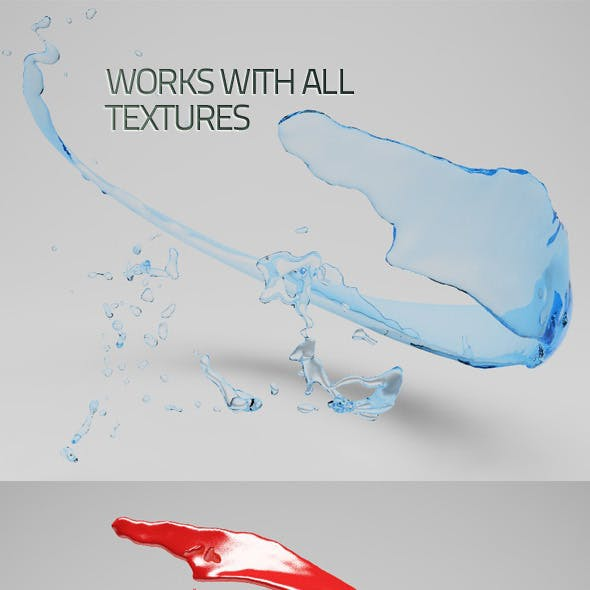 Highly Detailed Fluid Splash