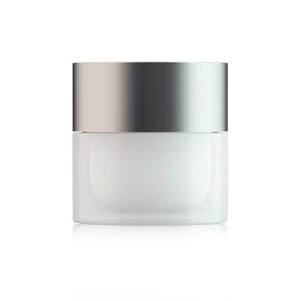 Transparent Cream Jar