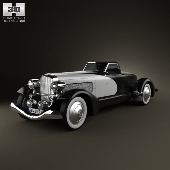Duesenberg SJ Boattail Speedster 1933 - 3DOcean Item for Sale