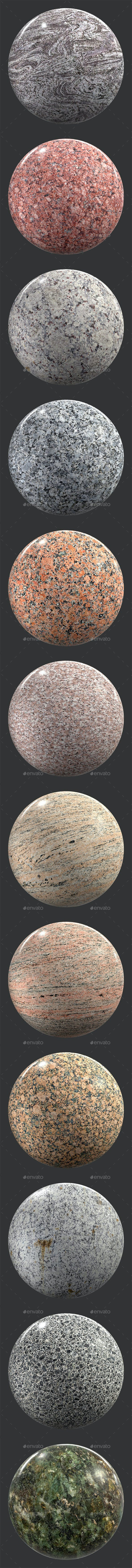 Stone gray and red 6K Texture set 12 items - 3DOcean Item for Sale