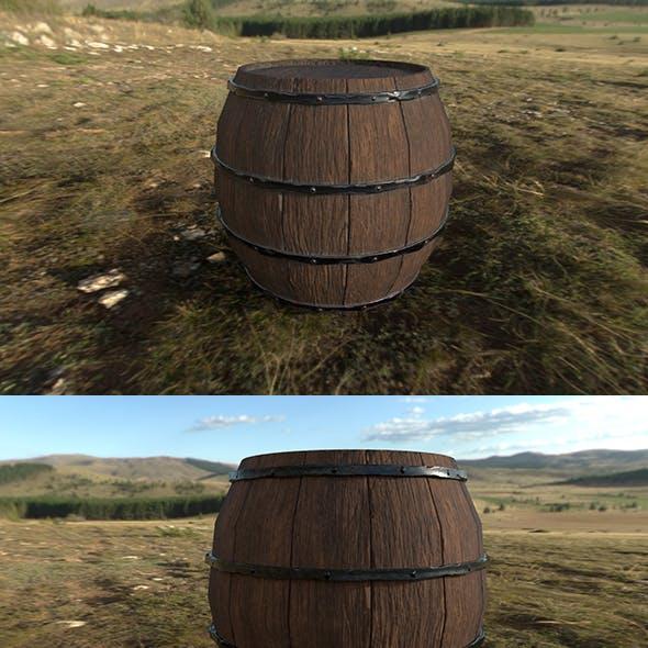 Barrel LowPoly model