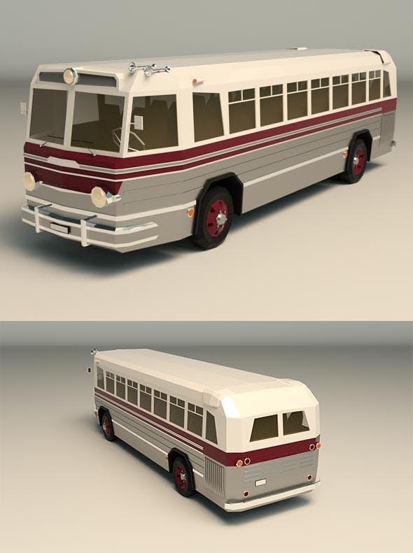 Low Poly Vintage Bus 04 - 3DOcean Item for Sale