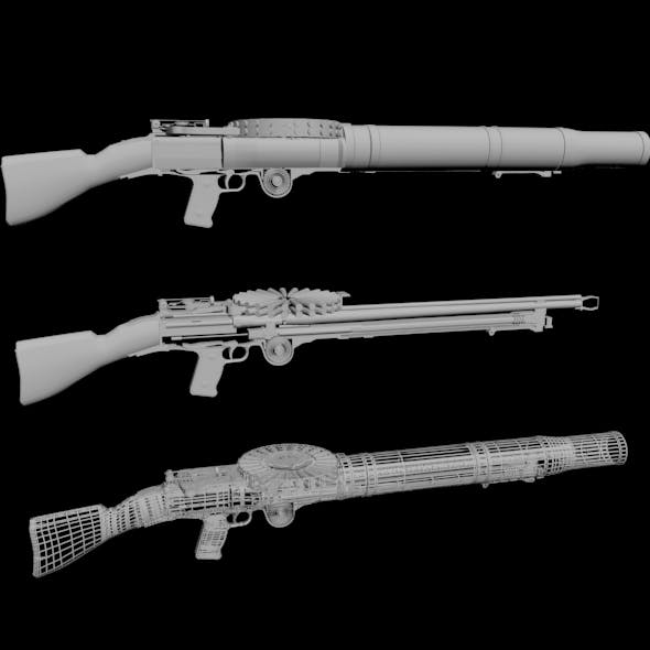 Lewis Gun 01 - 3DOcean Item for Sale
