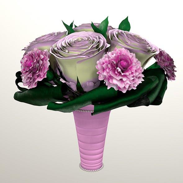 Bouquet of brides 3d model - 3DOcean Item for Sale