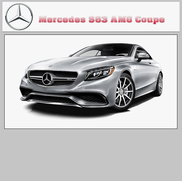 Mercedes Benz S63 AMG Coupe - 3DOcean Item for Sale