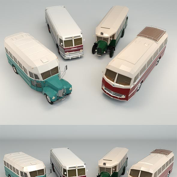 Low Poly Bus Pack 03