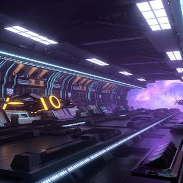 Sci-Fi Corridor Spaceship Corridor Space Station